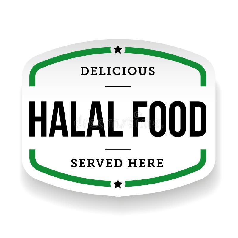Het uitstekende etiket van het Halalvoedsel vector illustratie