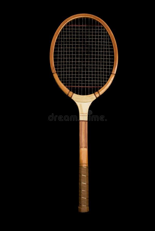 Het uitstekende Houten Racket van het Tennis royalty-vrije stock foto