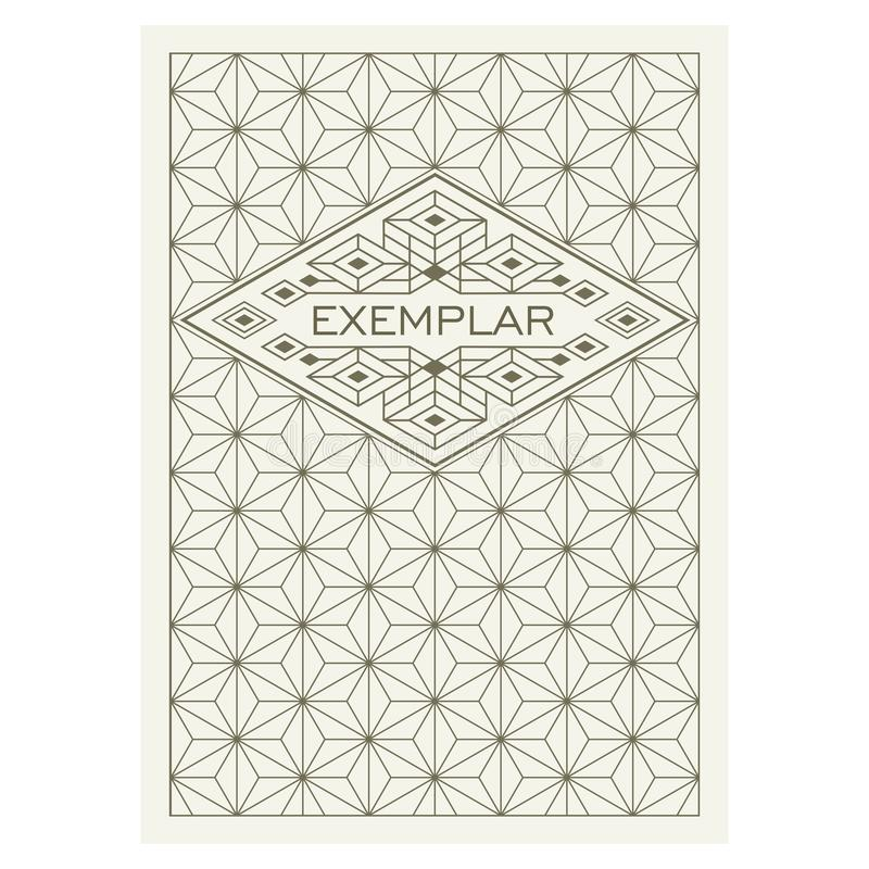 Het uitstekende kader van Luxe Antieke Art Deco Flourishes Het sier Vectormalplaatje van de Groetkaart Achtergronddekking Titelpa vector illustratie