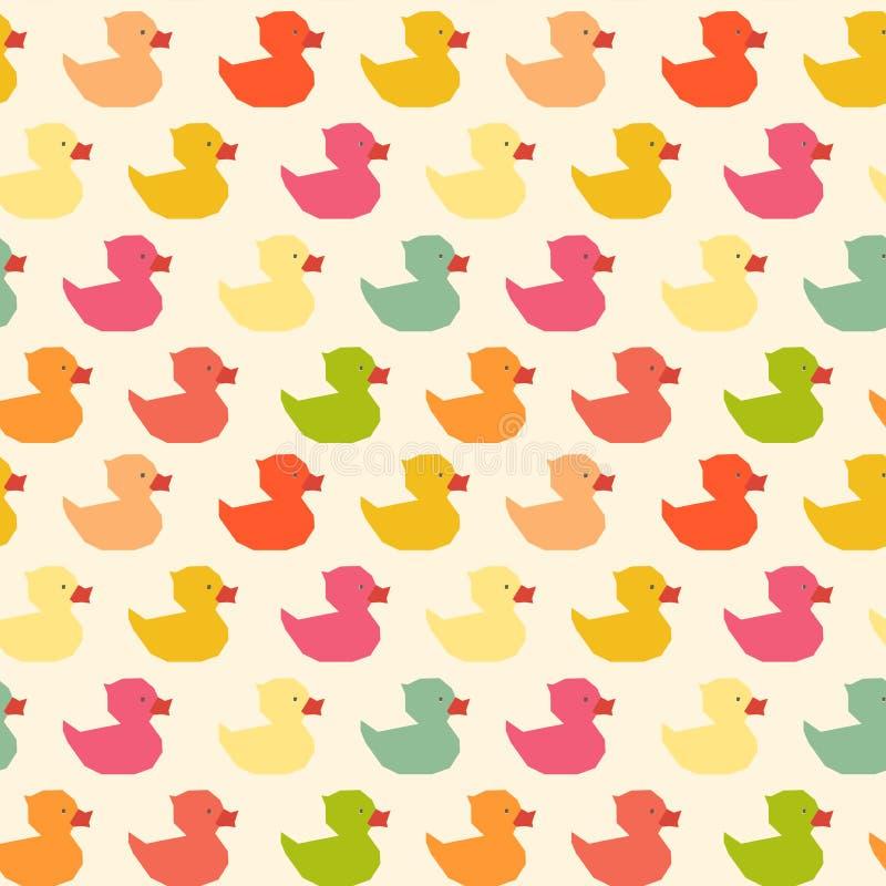 Het uitstekende kleurrijke patroon van de eendenveelhoek royalty-vrije stock afbeeldingen