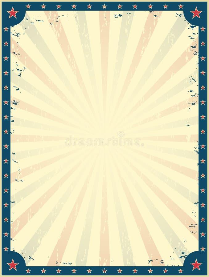 Het uitstekende malplaatje van de circusaffiche stock illustratie
