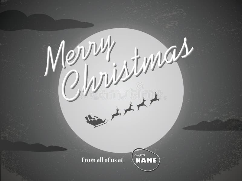 Het uitstekende malplaatje van de Kerstmiskaart Klassieke hollywood royalty-vrije illustratie
