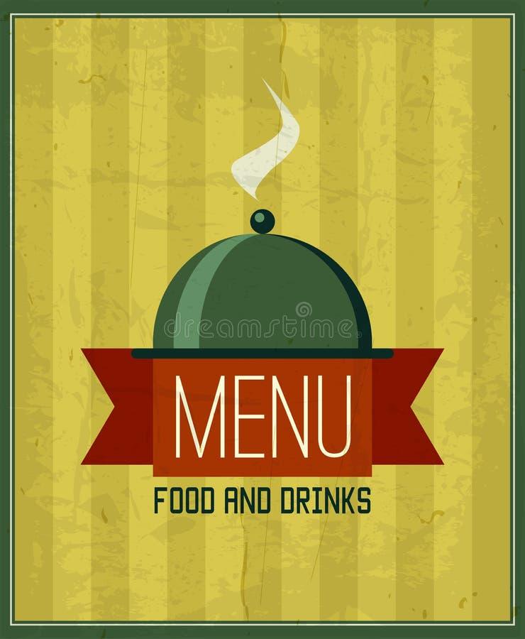 Het uitstekende malplaatje van het menuontwerp voor uw restaurant, koffie, bistro stock illustratie