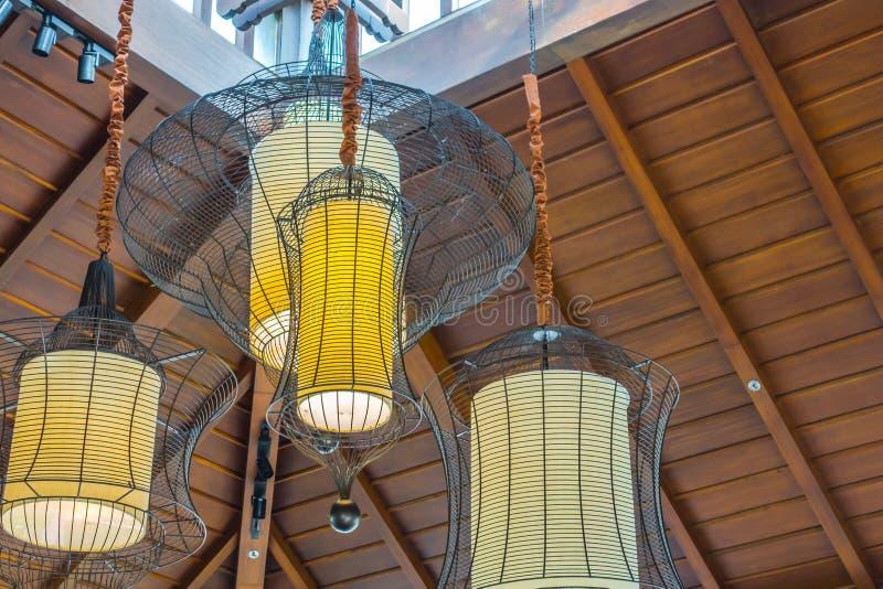 Het uitstekende moderne hotel van de Verlichtingsdecoratie royalty-vrije stock foto's