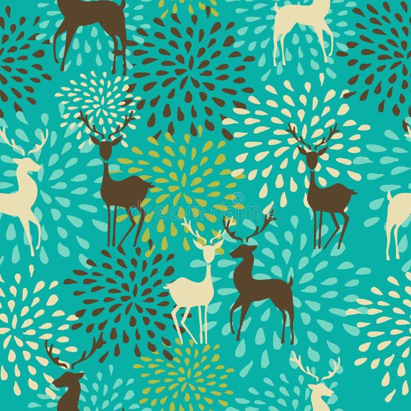 Het uitstekende naadloze patroon van Kerstmiselementen backgr vector illustratie