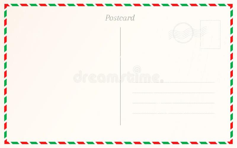 Het uitstekende ontwerp van de prentbriefkaargrens De ontwerpsjabloon van de reisbriefkaart vector illustratie