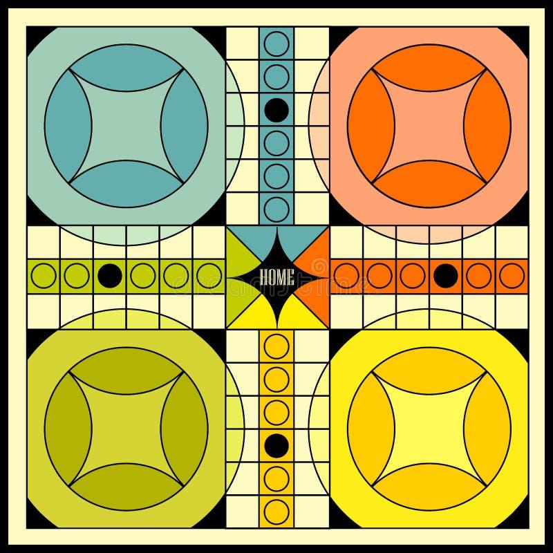 het uitstekende ontwerp van de spelraad royalty-vrije illustratie