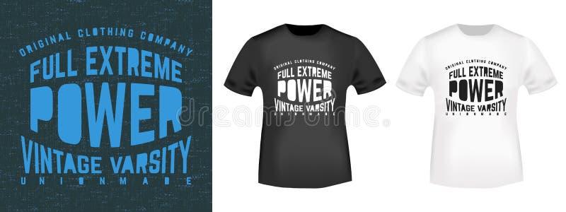 Het uitstekende ontwerp van de t-shirtdruk stock illustratie