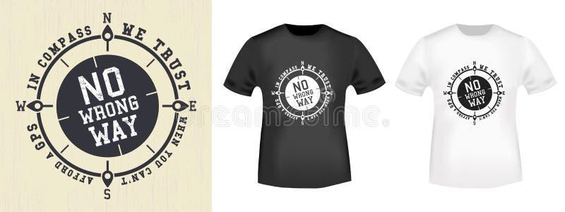 Het uitstekende ontwerp van de t-shirtdruk royalty-vrije illustratie