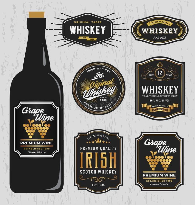 Het uitstekende Ontwerp van het de Merkenetiket van de Premiewhisky stock illustratie