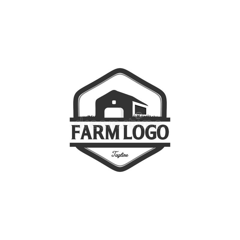Het uitstekende ontwerp van het landbouwbedrijfembleem stock illustratie