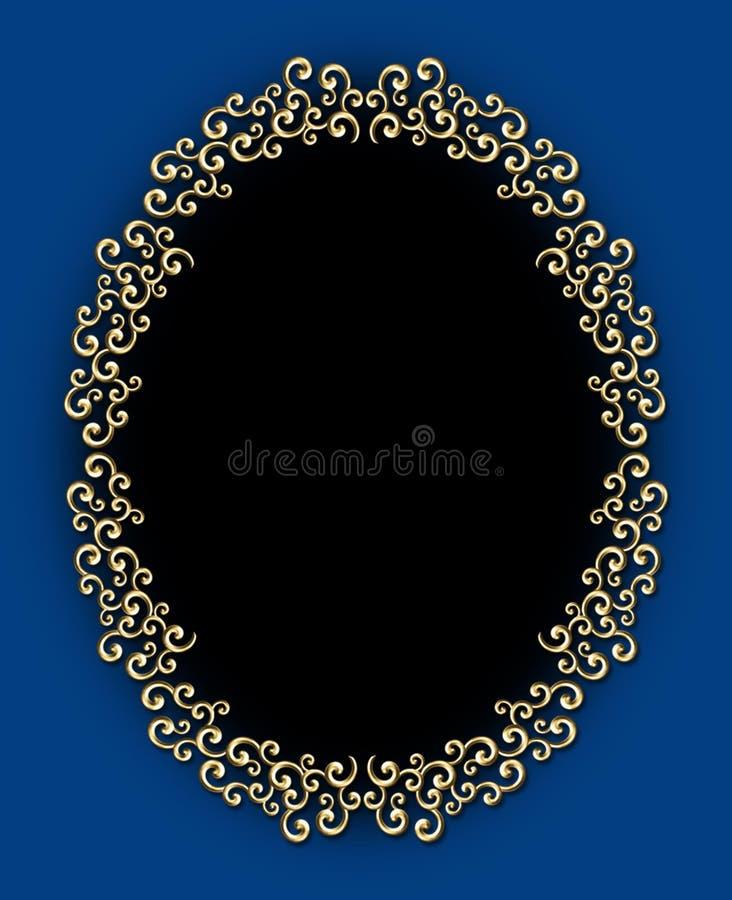 Het uitstekende Ovale Frame van de Werveling stock illustratie