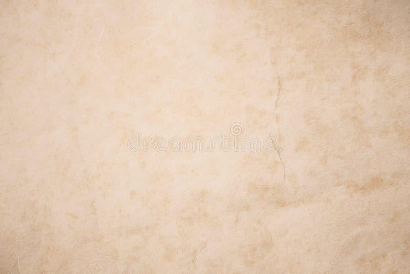 Het uitstekende pakpapier met rimpels, vat oude document texturen FO samen stock fotografie