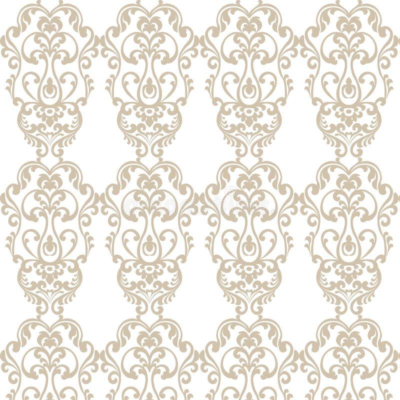 Het uitstekende patroon van het Damast Elegante Koninklijke ornament stock illustratie
