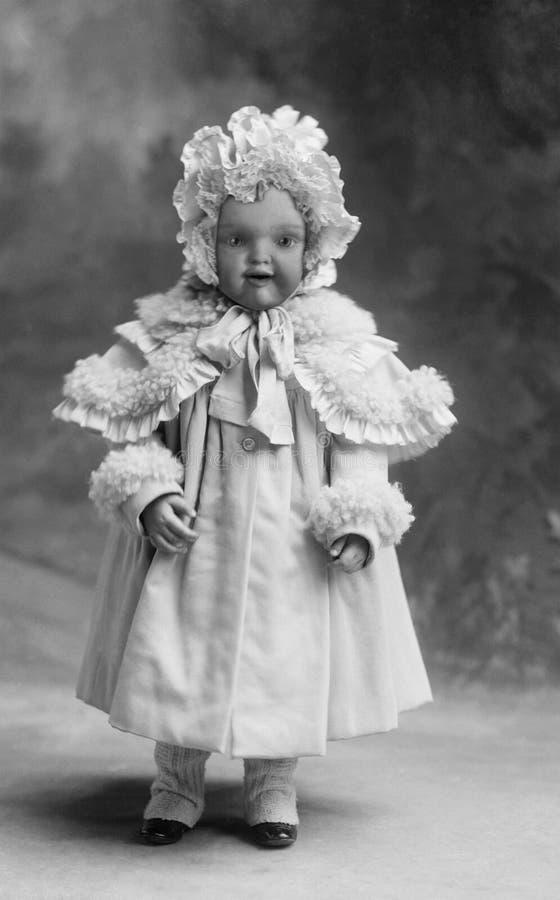 Het uitstekende Retro Portret van de Babyfoto stock illustratie