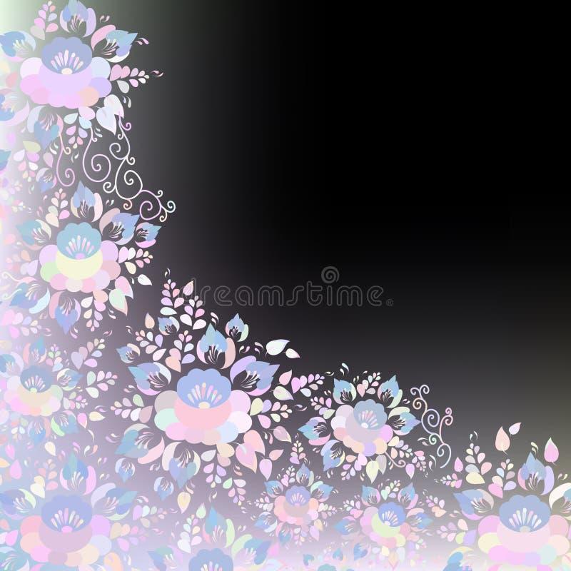 Het uitstekende sjofele Elegante ontwerp van de Huwelijkskaart, bannermalplaatje, springt romantische decoratie, pastelkleur op,  royalty-vrije illustratie