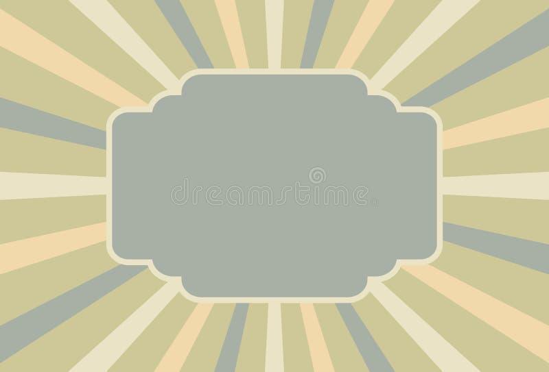 Het uitstekende teken van de circusstijl met ruimte voor tekst 3D Illustratie stock illustratie