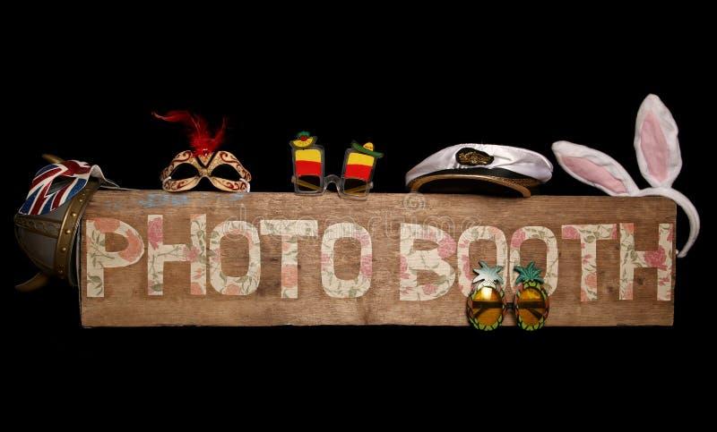 Het uitstekende teken van de fotocabine royalty-vrije stock fotografie