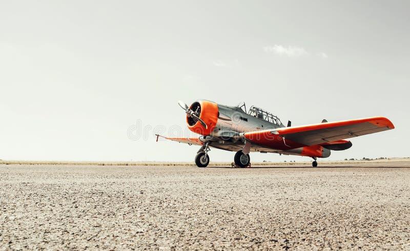 Het uitstekende Vliegtuig van Harvard royalty-vrije stock foto's