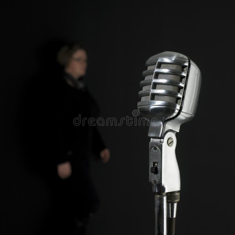 Het uitstekende zingen royalty-vrije stock afbeelding