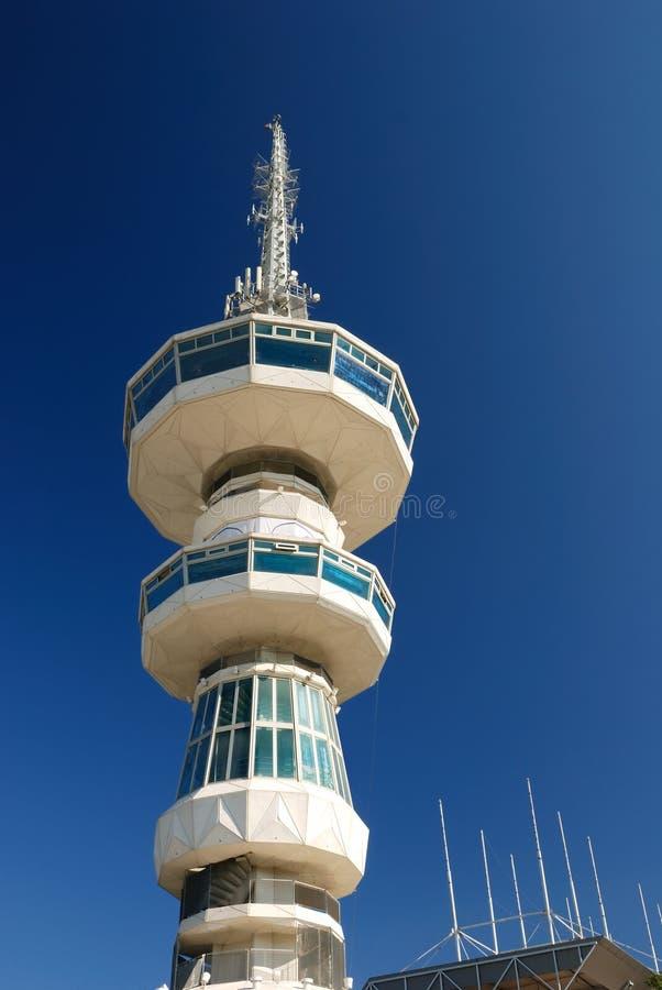 Het uitzenden toren in thessaloniki (Toren O.T.E.) stock afbeelding