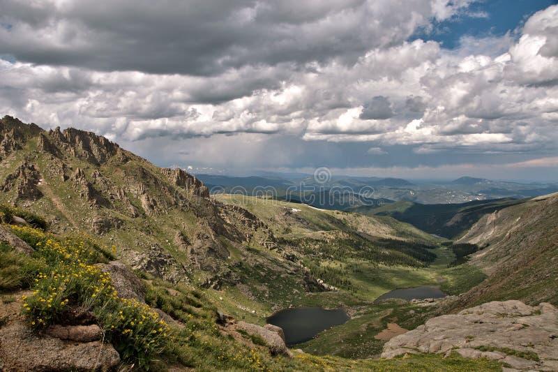 Het uitzicht van Colorado Rocky Mountain stock afbeeldingen