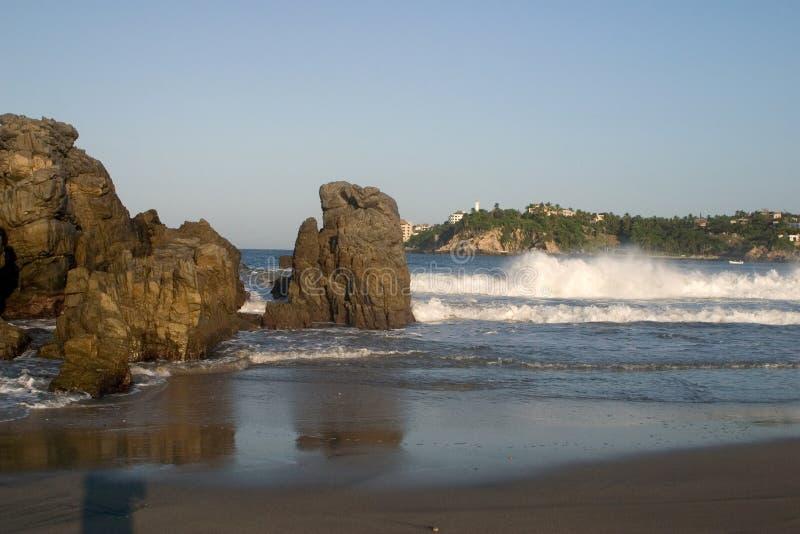 Het Uitzicht van het strand royalty-vrije stock afbeelding
