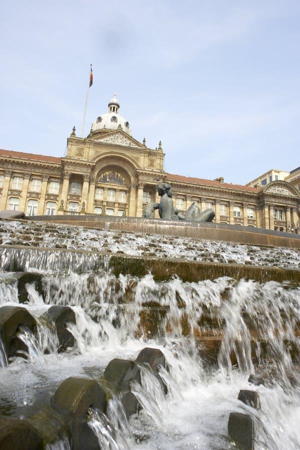 het UK, Birmingham, Stadhuis stock afbeeldingen