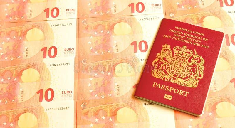 het UK in eurozone royalty-vrije stock afbeeldingen