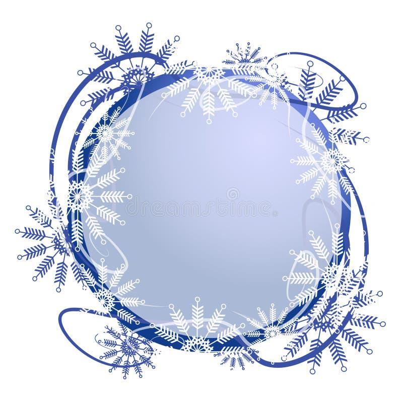 Het unieke Frame van het Embleem van de Sneeuwvlok stock illustratie