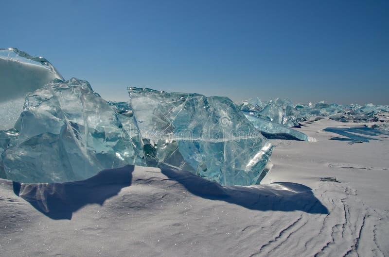 Het unieke ijsmeer Baikal royalty-vrije stock afbeelding