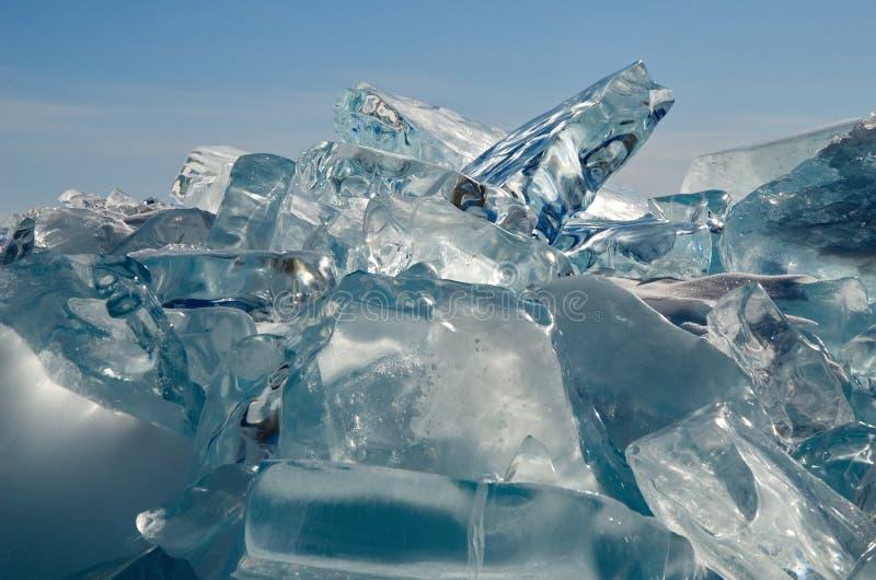 Het unieke ijsmeer Baikal stock foto