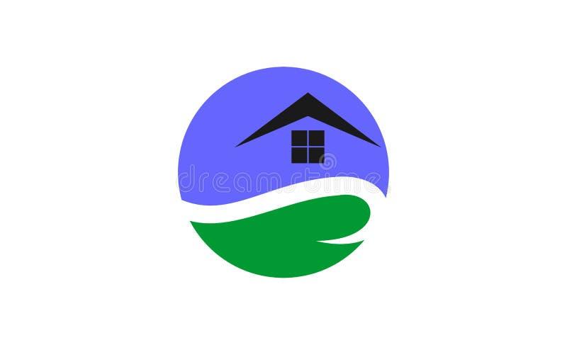 Het unieke ronde ontwerp van het huisembleem royalty-vrije illustratie