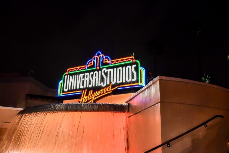 Het universele teken van Studio'shollywood stock afbeelding