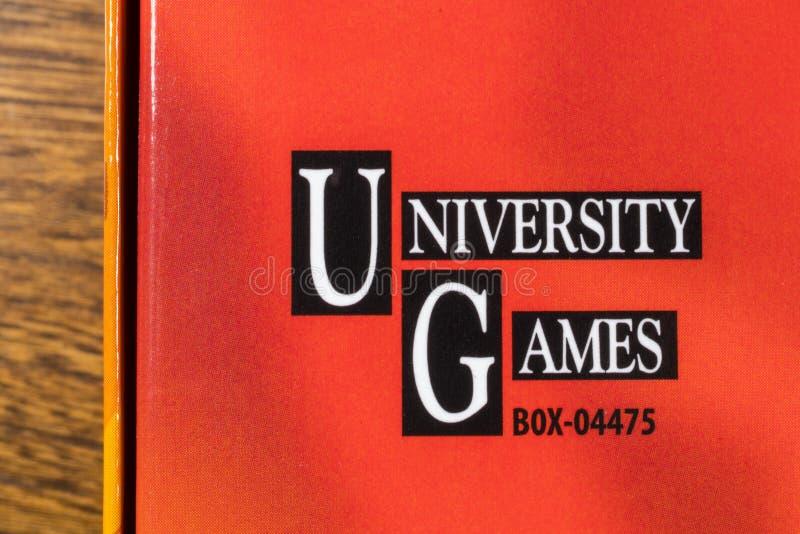 Het universitaire Embleem van het Spelenbedrijf stock fotografie