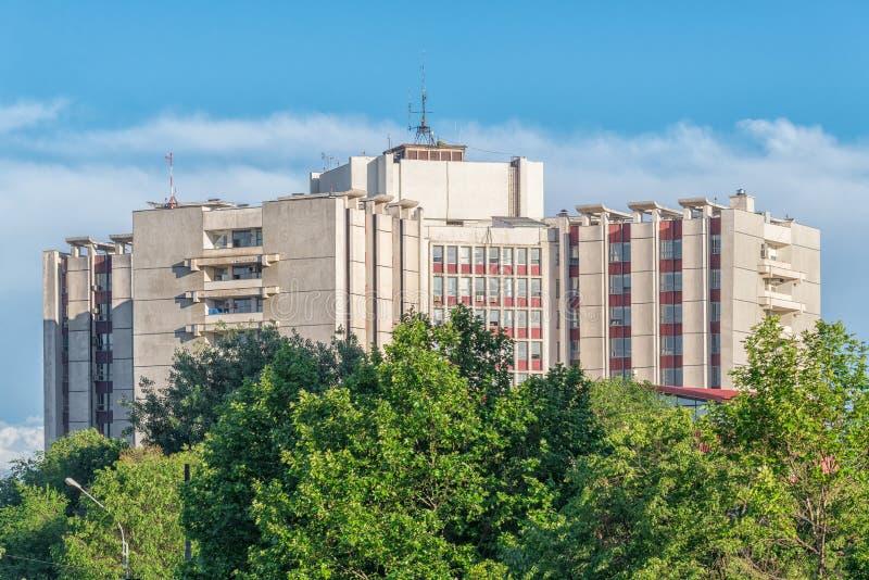 Het universitaire Noodsituatieziekenhuis SUUB, één van langste hospit royalty-vrije stock foto's