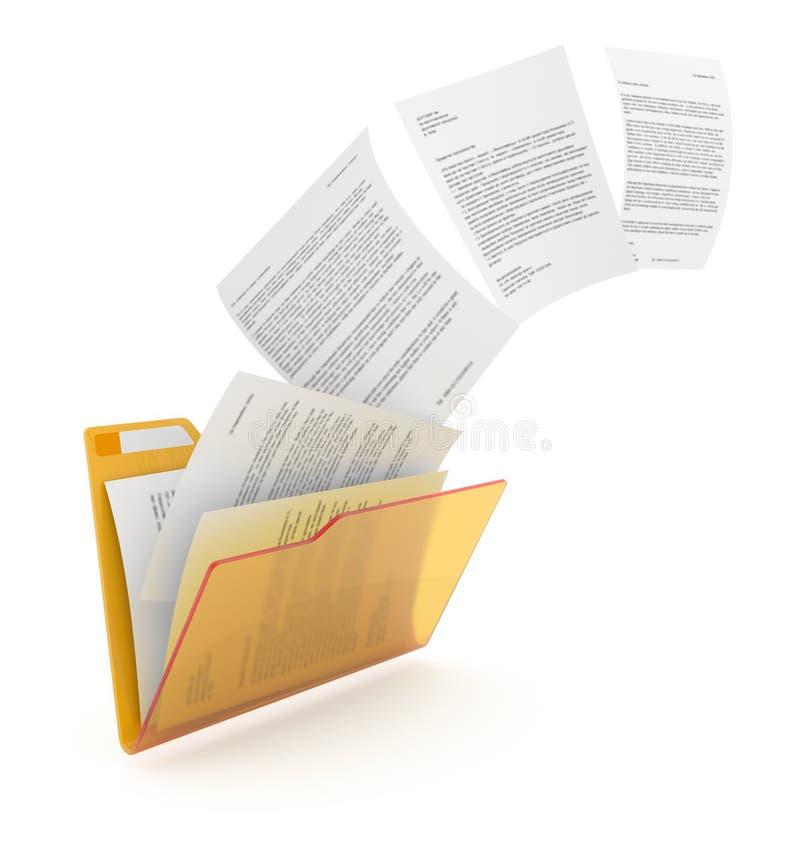 Het uploaden van documenten. stock illustratie