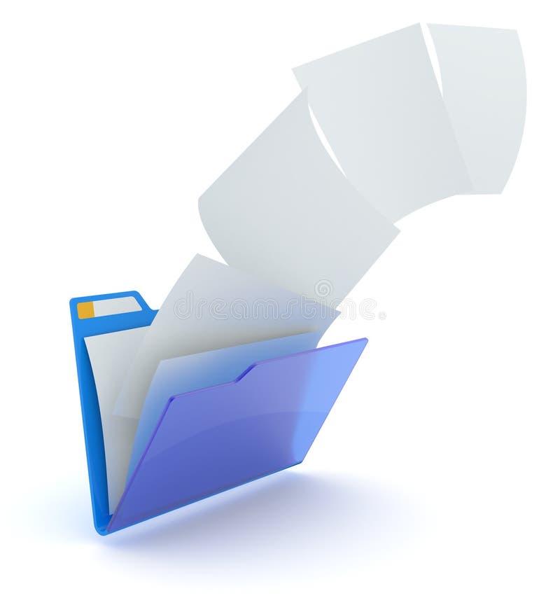 Het uploaden van dossiers. vector illustratie