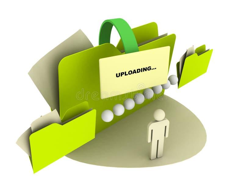 Het uploaden van pictogram stock illustratie