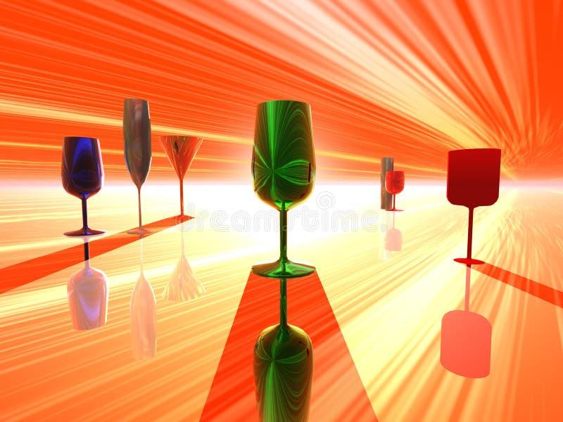 Het uur van de cocktail vector illustratie