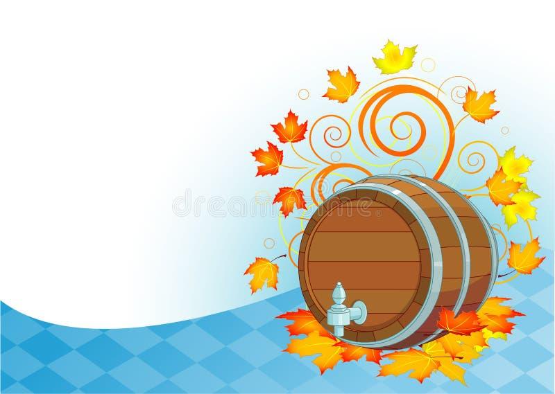 Het vaatje van het Oktoberfestbier stock illustratie