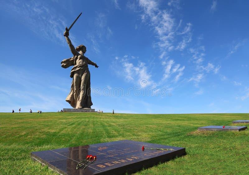 Het Vaderland van het monument in Volgograd, Rusland royalty-vrije stock foto