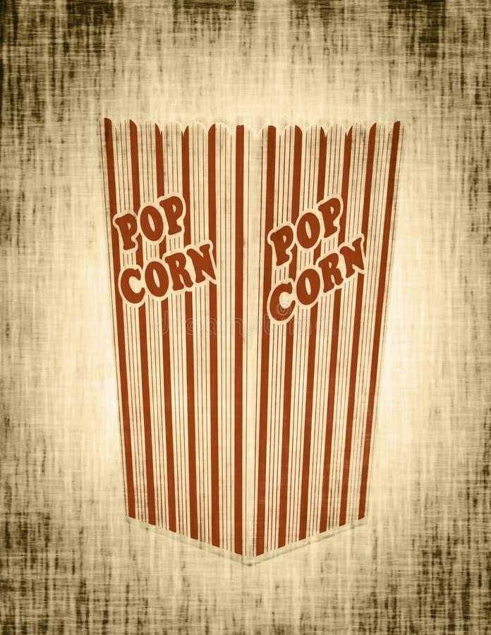 Het vakje van de popcorn samenvatting royalty-vrije stock foto