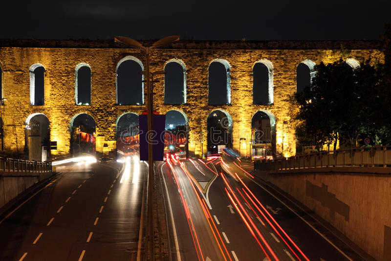 Het Valens Aquaduct, Istanboel royalty-vrije stock afbeelding