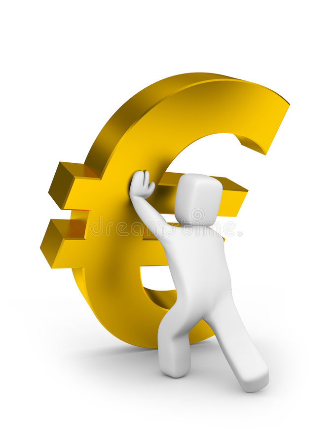 Het vallen van de preventie van euro vector illustratie