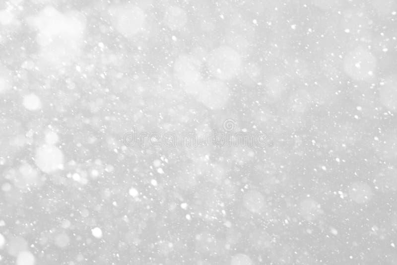 Het vallen van de sneeuw stock foto's