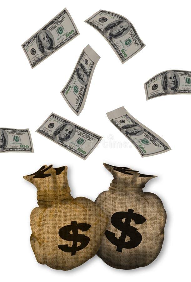 Het Vallen van het contante geld. vector illustratie