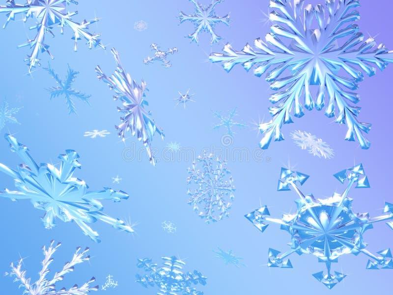 Het Vallen van sneeuwvlokken vector illustratie