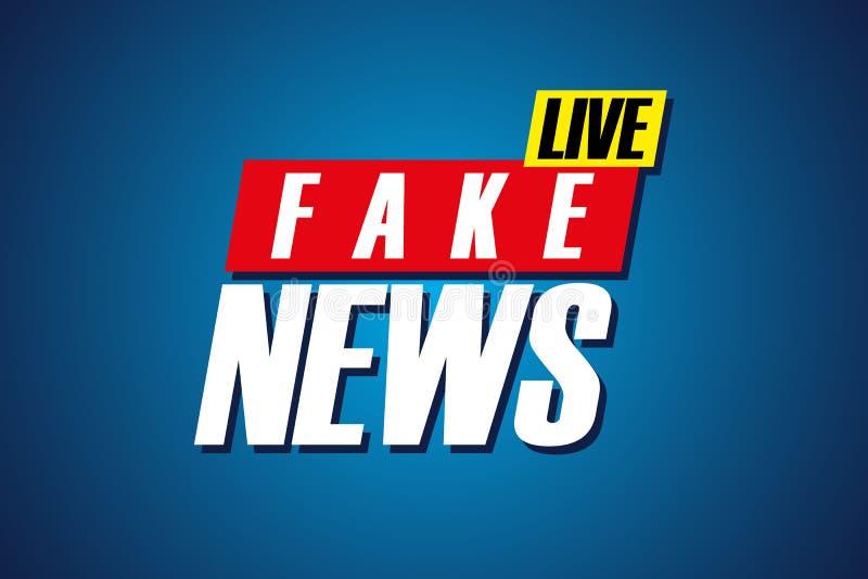 Het valse Nieuws leeft achtergrondmalplaatje TV-het schermbanner vector illustratie