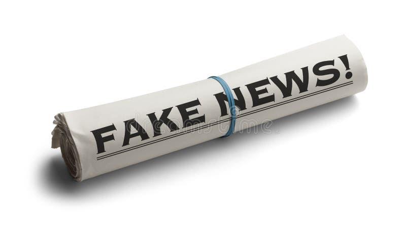 Het Valse Nieuws van het krantenbroodje royalty-vrije stock foto's